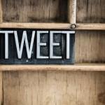 Tweet Concept Metal Letterpress Word in Drawer